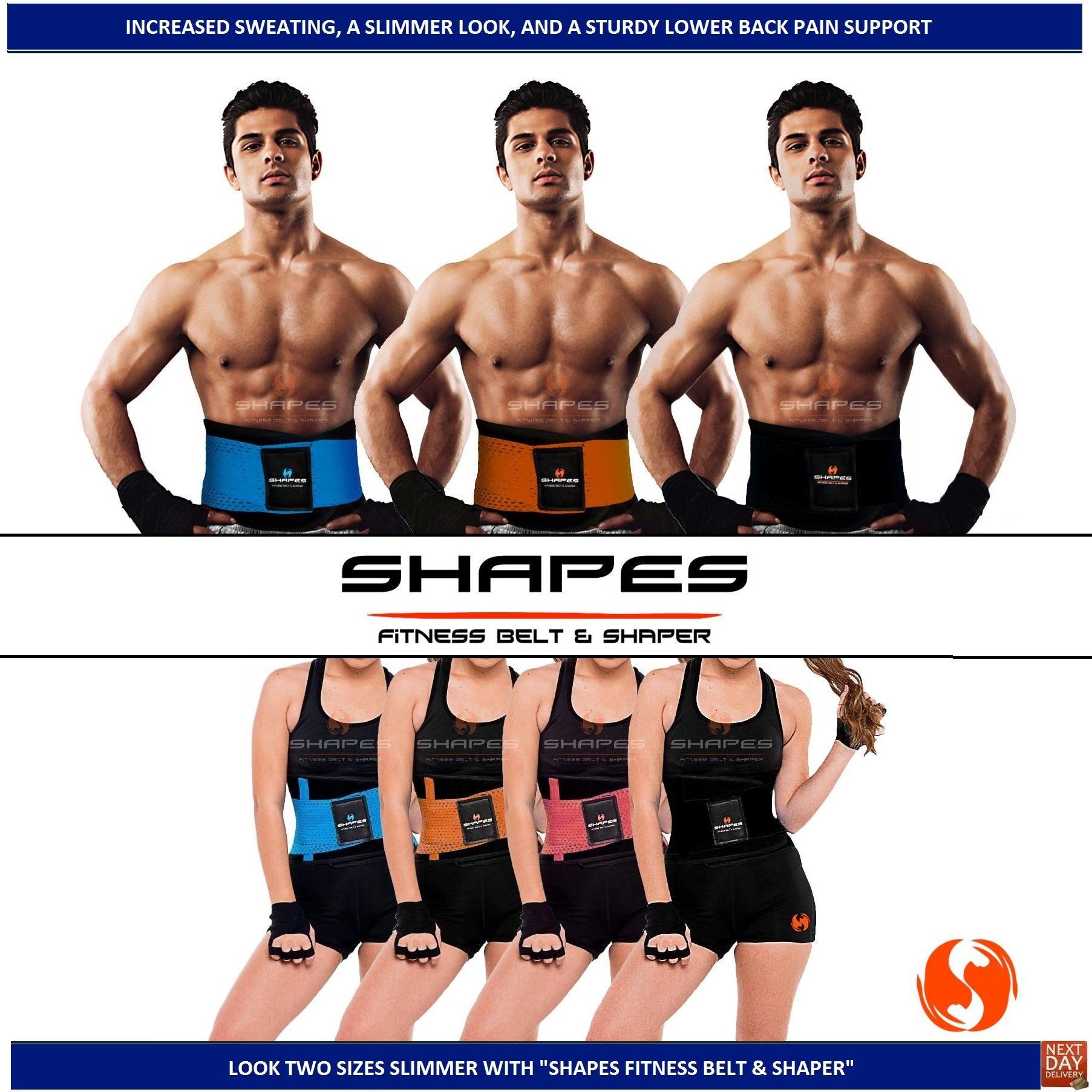 373bc1ec550 Details about Neoprene Lumbar Back Support Body Shaper Waist Cincher Trainer  Slimming Gym Belt