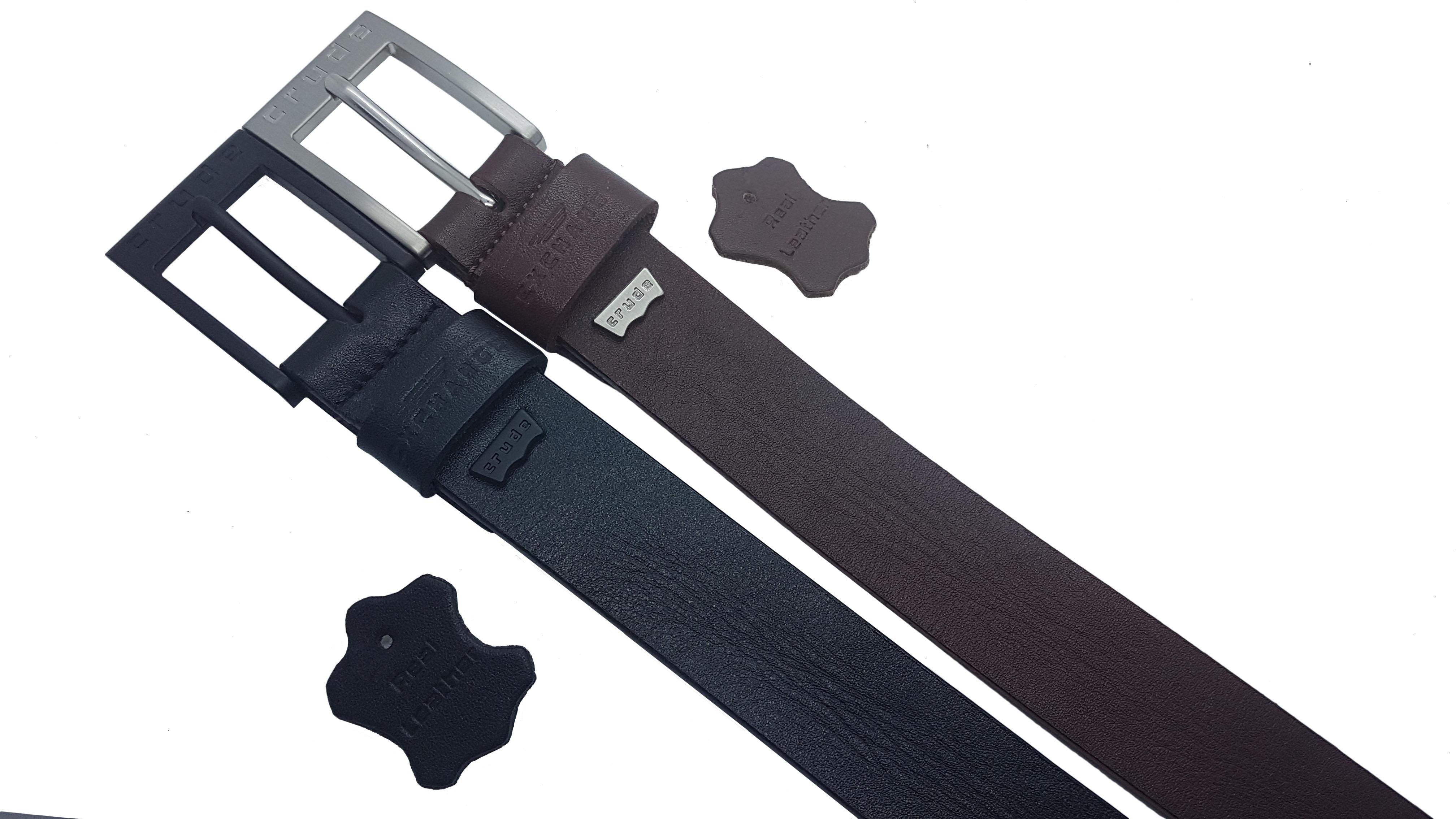 "HANDMADE IN UK Mens Black Brown Trouser Jeans Real Genuine Leather Belts 26/""-64/"""